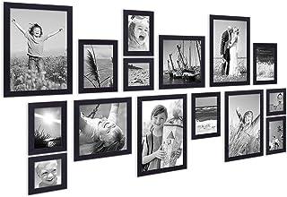 ArtzFolio Wall Photo Frame Black 6X6-3Pc;6X8-6Pc;6X10-2Pc;8X10-4Pc;Set of 15 Pcs