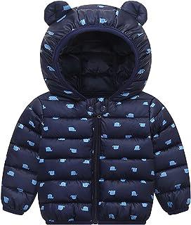 Ommda Chłopiec dziewczynki zwierzęta nadruk puchar płaszcz z kapturem maluch zima ciepły odzież wierzchnia pikowana kurtka...