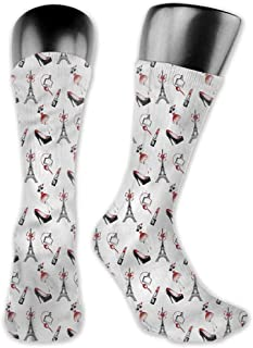 Pattern Socks,Socks Eiffel Perfume Bottles Romantic
