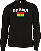 Amdesco Flag of Ghana Men's Long Sleeve Thermal Shirt