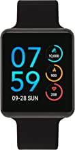 iTouch Air Special Edition Digital Smartwatch and Pedometer - Solid Silicone Strap (Black (41mm))