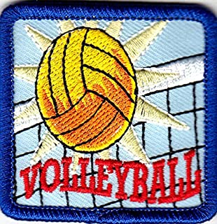 """2.5/"""" Volley Ball Embroidery Patch Net Sports Patch"""