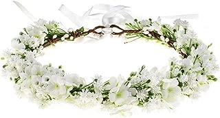 Floral Fall Baby's Breath Flower Halo Wedding Crown Girls Birthday Pink Headpiece FL-17