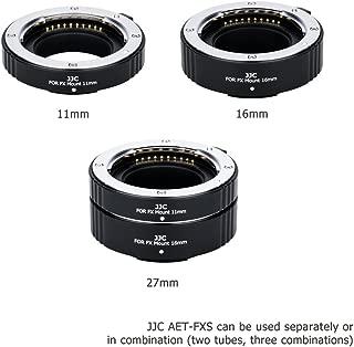 JJC X Mount Auto Focus Macro Extension Tube Set for Fuji Fujifilm X-T3 X-T2 X-T1 X-T30 X-T20 X-T10 X-T100 X-H1 X-PRO2 X-A7 X-A5 X-A3 X-A2 X-A10 X-E3 X-E2 X-E2S X-M1,Replaces Fujifilm MCEX-11 & MCEX-16