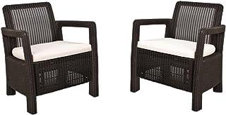 Keter Tarifa - Conjunto de sillones de jardín exterior