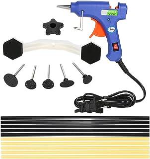 Carrfan 17Pcs Dent Puller Kit with Hot Melt Glue Gun Glue Sticks for Car Body Dent Repair