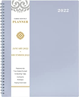 2019 Monthly Planner!!! - 2019 Planner with TABS & Pocket & Label, Contacts and Passwords, Thick Paper, Twin-Wire Binding,...