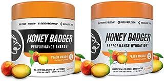 Honey Badger Vegan Keto Pre Workout and Hydration | Peach Mango | Natural Paleo Sugar Free Pump Energy Supplement Nootropi...