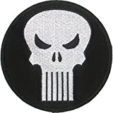 Ata-Boy Marvel Comics Punisher Logo 3.5' Full Color Embroidery Iron-On Patch