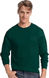 Men's Tagless Long-Sleeve T-Shirt with Pocket