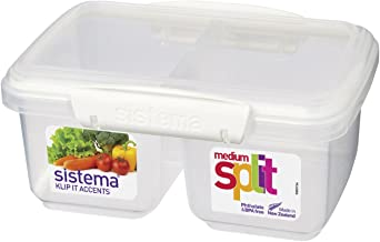 Sistema 61620 KLIP IT Accents Medium Split Food Container, 1 L - Assorted Colour