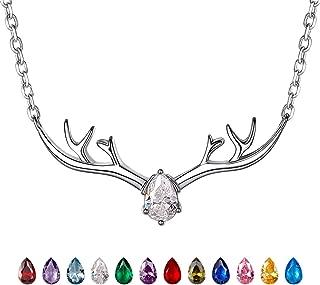 diamond deer antler necklace