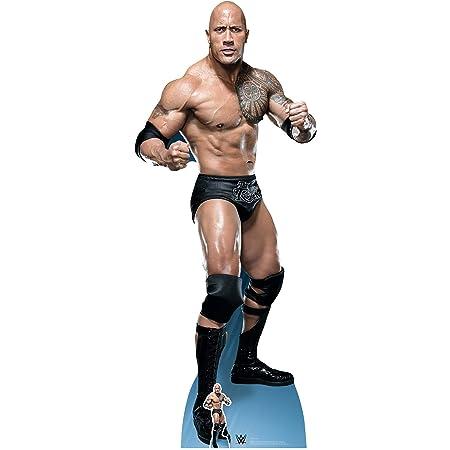 STAR CUTOUTS Official WWE The Rock Dwayne Johnson 'Just Bring It', Lifesize Cardboard Cutout,195 cm Tall, Recorte de cartón tamaño Real, Alto, 195 x 75 x 195 cm