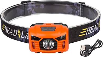 Hoofdzaklantaarn Body Motion Sensor Koplamp Super Heldere USB Oplaadbare Ingebouwde battry Camping Koplamp 2 Mode Hoofd Za...