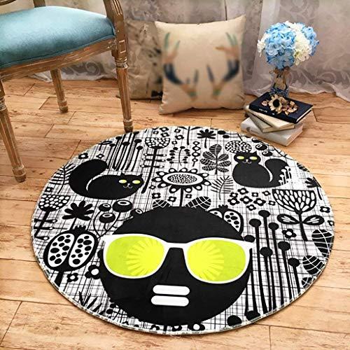 YUJIA1 Haushalt/Mode Lampe/persönlichkeit Runde Cartoon Teppich Polyester Computer Stuhl Kissen Trend Wohnzimmer Schlafzimmer schlafsofa Matte Matte Baby Kriechen Teppich,Durchmesser 160cm