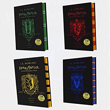 J.K. Rowling Collection Harry Potter and the Philosopher's Stone Edition4 Books Bundle (Ravenclaw Edition, Hufflepuff Edition, Slytherin Edition, Gryffindor Edition)