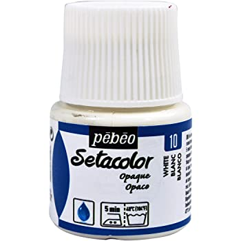 Pebeo Setacolor - Pintura para Tejidos (45 mm), Color Blanco