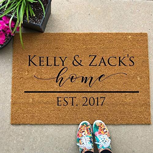 Ajcwhml Neue Ankunft Fußmatten benutzerdefinierte Abziehbilder Fußmatten willkommen Teppichgröße benutzerdefinierte Aufkleber Willkommensgeschenke enthalten Keine Matten