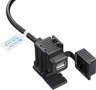 eSynic Cargador de la Motocicleta USB Puerto de la Fuente de Alimentación por USB 2.1A 12V / 24V