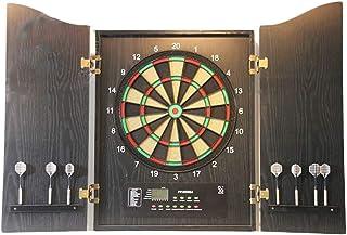 CHUTD Dartboard, exklusiv elektronisk pilmaskin 45,7 cm vuxen inomhus darttavla flockning dartmål, automatisk poäng LCD-sk...