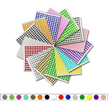 16pcs 8mm couleur autocollants points collants ronds étiquettes collants