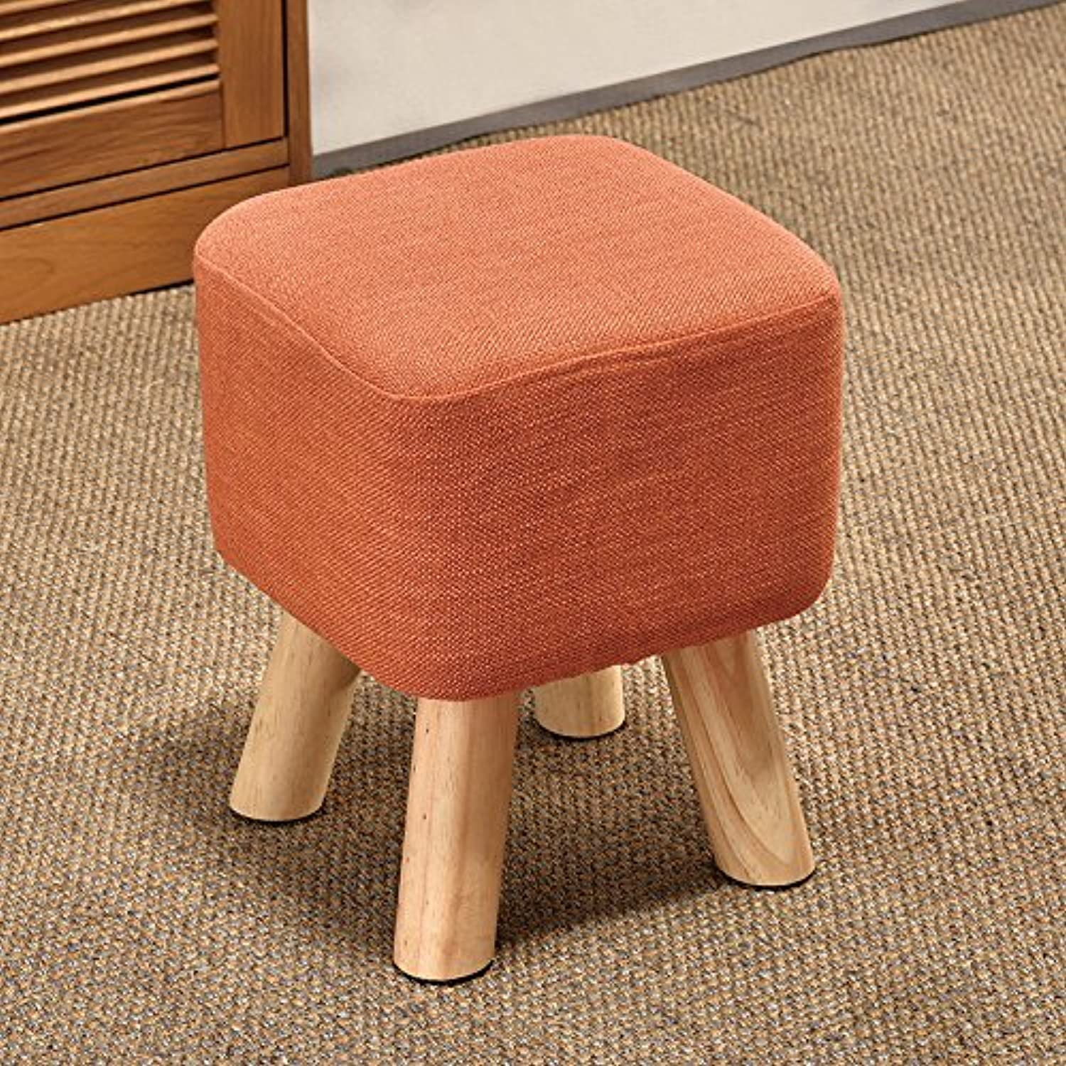 Dana Carrie The High stool Wooden stool Creative Living in Other shoes is Stylish Cloth Sofas stools Benches, orange