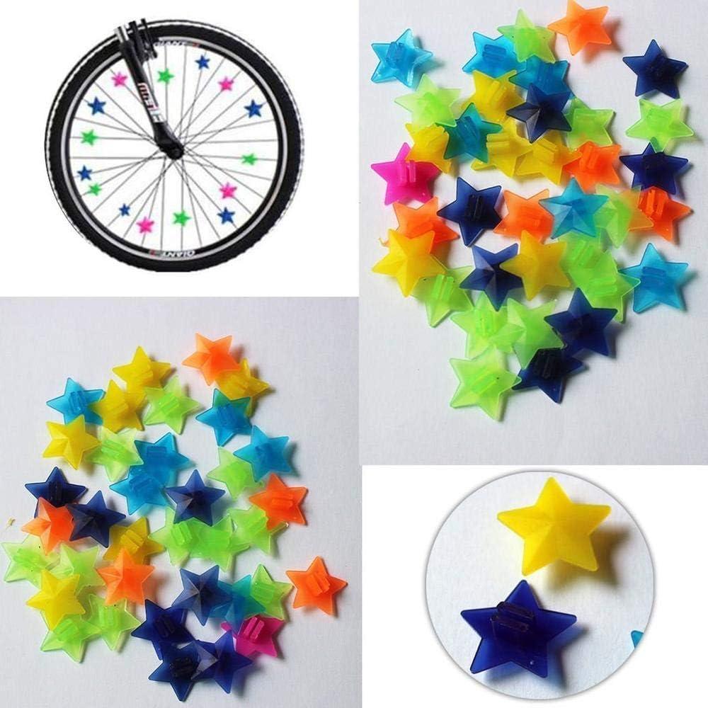 Plastic Bicycle Bike Wheel Spoke Bead Clip Decor For Kids Children New JAZZ