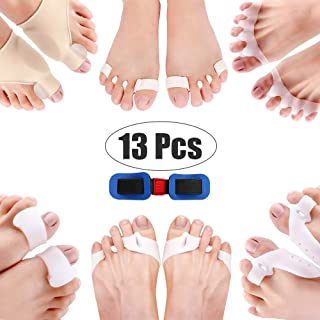 Corrector Big Toe 13 Pcs Bunion Toe Separators Straightener Silicone Thumb Valgus Correction Kit Pain Relief Feet Care Too...