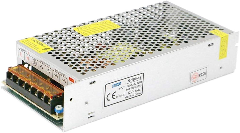Ouyingmatealliance LED Light LED-Licht SOMPOM S-180-12 180W 12V 15A Eisen Shell Driver LED-Lichtleiste Beleuchtung Monitor Netzteil