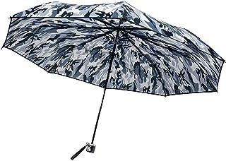CAFEDIMLY(カフェディムリー)折りたたみ傘 8本骨で風にも強い耐風設計 軽量タイプ 親骨55cm カモフラージュ グレー