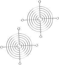 tellaLuna 2 x metalen draad vinger guard rooster 80 mm PC ventilator koeler