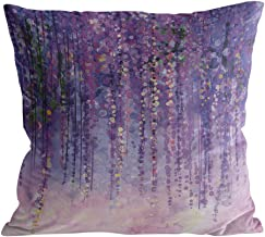 Square Throw Pillow Cover with Zipper for Girl/Boy/Kid/Couple/Couch/Chair/Bed/Dining/Living Room, Purple Abstract Oil Painting Decorative Soft Short Plush Cushion Cover Pillow Case 24x24in