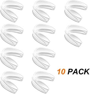 Coolrunner Mouth Guard Sports, 10 Pack Athletic Mouth Guards, Professional Moldable Youth Mouthguard for Maximum Protection, Customizable for Comfort(12 Years or Older)