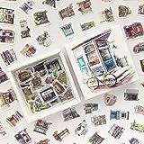 BLOUR 200 unids/Pack Caja de Gadgets de Cara a la CallePegatinas de papelería Decorativas Scrapbooking DIY Diario álbum Stick