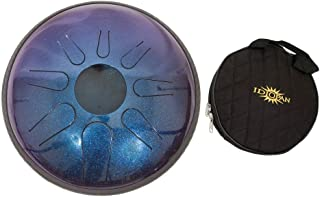 Idiopan Domina Steel Drum Package Includes: 12-inch Tunable Steel Tongue Drum - Sapphire Blue + Idiopan 12