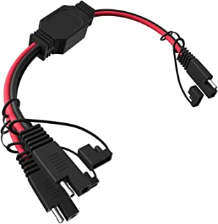 Vemote 14AWG SAE Y Splitter Cables, 1 to 2 SAE ConnectorDC Power Extension Cable for Camp Trailer Solar Panels Battrey12...