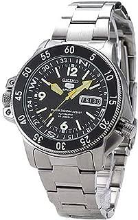 skz211 Seiko 5 Sports Automatic Atlas Diver Yellow Hands Black Dial Watch
