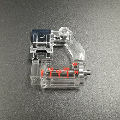 Snap-on Adjustable Bias Binder Foot For Brother Singer Janome Sewing Machine, The Adjustable Range Is From 5mm To 20mm