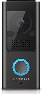 Amcrest SmartHome Video Doorbell Camera, 2.4 GHz WiFi Doorbell Camera, IP55 Weatherproof, Two-Way Audio, 140º Wide-Angle, ...