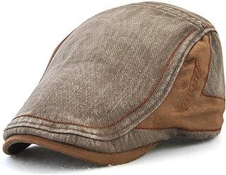 Men's Adjustable Beret Caps Outdoor Patchwork Visor Newsboy Painter Newsboy Hunting Hats Hats & Caps (Color : Bronze)