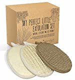 Stephanie Franck Beauty 3 Guanti per Peeling in spugna Loofah,...