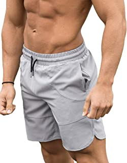 FLYFIREFLY Men's Gym Fitness Drying Workout Shorts Running Short Pants with Pockets