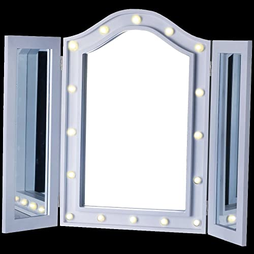 9b0535f837d LED TRIPLE MIRROR VANITY DRESSING TABLE COSMETIC MAKEUP BEDROOM BEAUTY LIGHT  BOX