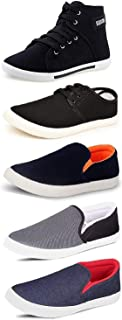TEMPO Men's Combo Pack of 3 Synthetic Loafers & 2 Sneakers - Multicolour