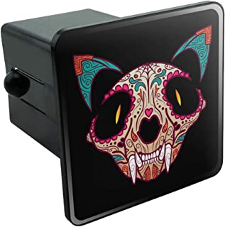 Graphics and More Cat Skull Mexican Day of The Dead Tow Trailer Hitch Cover Plug Insert