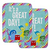 """Jay Franco & Sons 2 Pack Cozy Inside Out Soft Fleece 46x60"""" Plush Throw Blankets for Kids Girl Boy"""