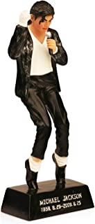 OZUKO Michael Jackson Action Figure King of Pop Doll Memorial Statue Home Living Room Desk Decoration (Black)