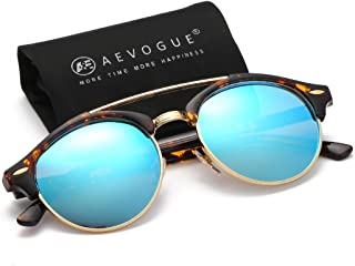 AEVOGUE Polarized Sunglasses Mens Semi-Rimless Retro Unisex Glasses AE0504