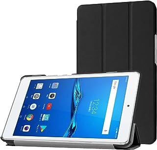 MediaPad M3 Lite s ケース TopACE 超薄型 スマートケース スタンド機能付き 高級PU レザーケース メディアパッド エムスリー ライト エス 対応 (ブラック)