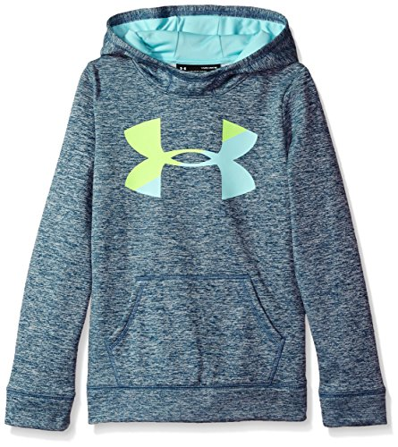 Under Armour Girls' Armour Fleece Big Logo Novelty Hoodie,True Ink /Blue Infinity, Youth Small